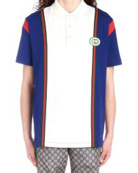 4eac9d0483e Lyst - Gucci Grey Pique Gg Jacquard Short Sleeve Polo in Gray for Men