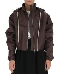 Rick Owens - Cropped High Neck Jacket - Lyst