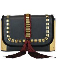 Alberta Ferretti - Studded Tassel Detail Shoulder Bag - Lyst