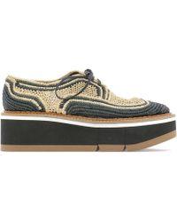 d28fd33c07dc Robert Clergerie - Woven Platform Lace-up Shoes - Lyst