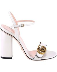 8604df46471 Gucci - GG Ankle Strap Sandals - Lyst