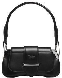 Prada Large Sidonie Lux Leather Top Handle Bag in Black - Lyst c516dceccacff