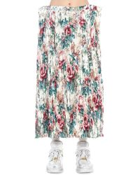 Junya Watanabe - Floral Print Pleated Skirt - Lyst