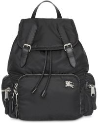 Burberry - The Medium Rucksack In Nylon And Leather - Lyst