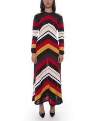 MSGM - Wool-blend Maxi Dress - Lyst