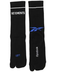 Vetements - X Reebok Logo Socks - Lyst