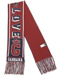 Dolce & Gabbana - Embroidered Logo Cashmere Scarf - Lyst