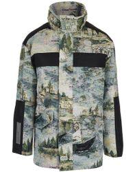 0c660f61c943 Off-White c o Virgil Abloh - Camouflage Patterned Coat - Lyst