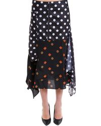 JW Anderson - Patchwork Polka Dot Skirt - Lyst