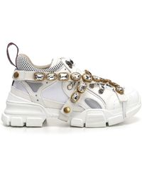 Gucci - Flashtrek Sneakers With Removable Crystals - Lyst
