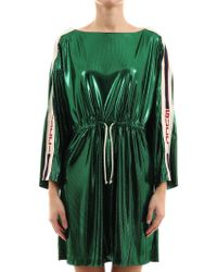 984beab2e Gucci Belted Jersey Dress in Black - Lyst