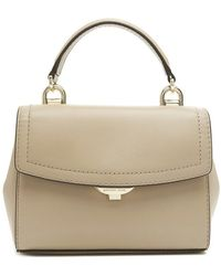 38a451fd1dc2 Lyst - Michael Michael Kors Ava Extra-small Saffiano Leather Satchel ...