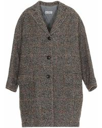 Alberto Biani - Checked Loose-fit Coat - Lyst