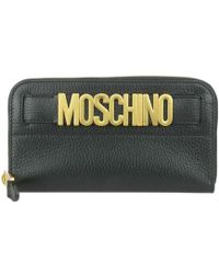 Moschino - Logo Plaque Continental Wallet - Lyst