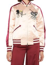Valentino - Cupid Embroidered Bomber Jackety - Lyst