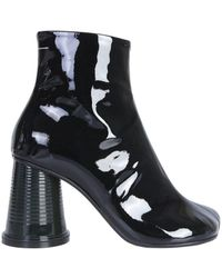 MM6 by Maison Martin Margiela - Flared Block Heel Ankle Boots - Lyst