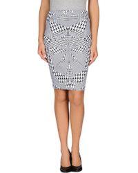 McQ by Alexander McQueen Knee Length Skirt black - Lyst