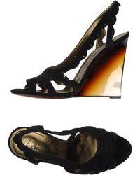 Lanvin Black Sandals - Lyst