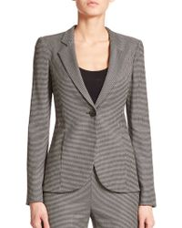 Armani Mini Houndstooth-Print Jacket black - Lyst