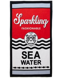 Moschino Red & Black Sparkling Fashionable Sea Water Beach Towel - Lyst