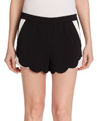 A.L.C. Aj Scalloped Shorts black - Lyst