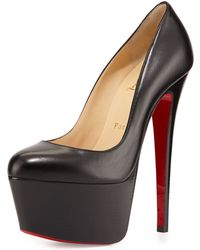 black spiked christian louboutin sneakers - Christian louboutin Decollette Patent Red Sole Pump in Red (black ...