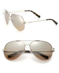 Valentino Stud-Trimmed Aviator Sunglasses - Lyst
