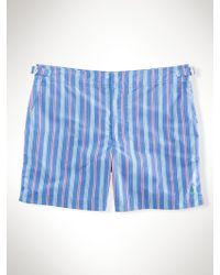 Polo Ralph Lauren Striped 5 Brent Swim Trunk - Lyst
