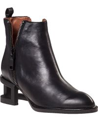 Jeffrey Campbell Boone Ankle Boot Black Leather - Lyst