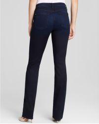 Jen7 - Sateen Slim Straight Leg Jeans In Blue Black - Lyst