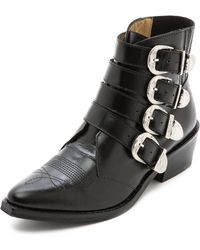 Toga Pulla Buckled Ankle Boots Black - Lyst