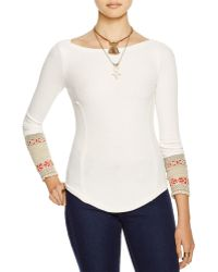 Free People | Newbie Thermal Rosey Cuff Top | Lyst