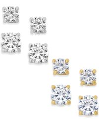 City By City - Set Of 4 Cubic Zirconia Stud Earrings - Lyst