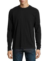 Ag Adriano Goldschmied Long-sleeve Pickstitched Jersey Tee - Lyst