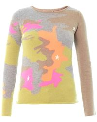 Queene And Belle - Camo Intarsia Knit Sweater - Lyst