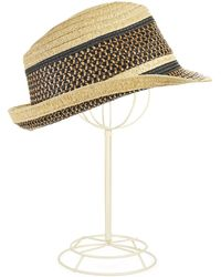 BCBGMAXAZRIA - Adjustable Fedora with Woven Accents - Lyst
