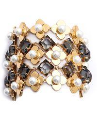 Tory Burch Babylon Mesh Bracelet  Ivoryshiny Gold - Lyst