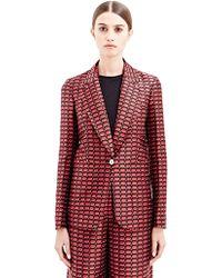 Sonia Rykiel Womens Jacquard Tailored Jacket - Lyst