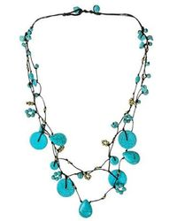 Aeravida - Flowing Cascades Turquoise Stone Necklace - Lyst