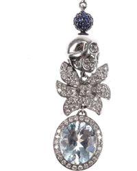 Jade Jagger - Diamond Aquamarine Gold Earrings - Lyst