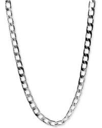 Marc Ecko - Mark Ecko Men'S Silver-Tone Flat Link Necklace - Lyst