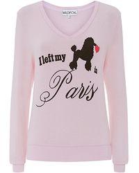 Wildfox My Love in Paris Sweater - Lyst