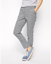 Fred Perry - Houndstooth Chinos - Lyst