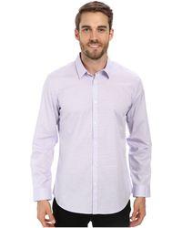 Calvin Klein End On End Shadow Check Woven Shirt - Lyst