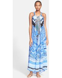 Camilla A World Between The Warp Silk Dress blue - Lyst
