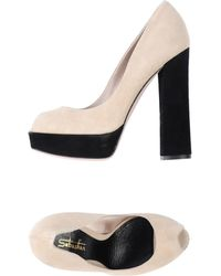 Sebastian Courts With Open Toe - Lyst