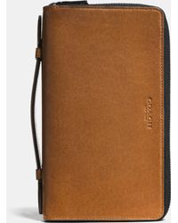 Coach Double Zip Travel Organizer In Sport Calf Leather - Lyst