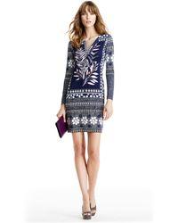 Diane von Furstenberg - Reina Long Silk Jersey Tunic Dress - Lyst