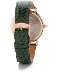 Shashi - Classique Watch - Rose Gold/emerald - Lyst