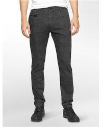 Calvin Klein | Jeans Tapered Leg Herringbone Print Dark Wash Jeans | Lyst